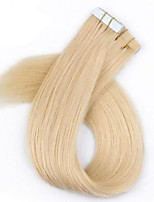40Pcs/Pack Cutile Remy Tape/PU/Skin Hair Extension Blonde Color Brazilian Virgin Hair With Cutile 2.5g Per Strand