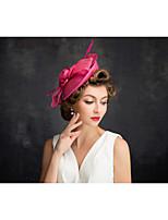 Vrouwen Veren / Vlas / Net Helm-Speciale gelegenheden Fascinators 1 Stuk Helder Onregelmatig 25