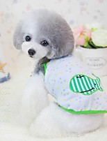 Dog Shirt / T-Shirt / Pajamas Orange / Green Dog Clothes Summer / Spring/Fall Cartoon Cute / Casual/Daily