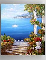 Ручная роспись Пейзаж / фантазия / Абстрактные пейзажи Картины маслом,Modern / Средиземноморье / Пастораль / Европейский стиль 1 панель