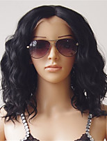 100% Indian Human Virgin Hair 10-26 Inch Natural Black Color Natural Loose Body Wave Front Lace Wig With Baby Hair