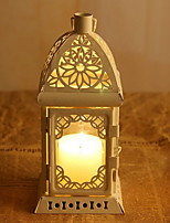 Romantic Classical Floor Iron Lantern Candlestick Decoration