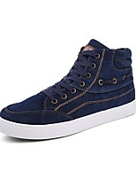 Men's Shoes Libo New Style Canvas Outdoor / Casual Flat Heel Black / Gray/ Dark Green / Navy Comfort Fashion Sneakers