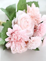 1PC  Household Artificial Flowers Sitting Room Adornment Flowers Polyester Roses Artificial  Flowers