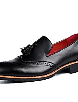 Men's Oxfords Spring / Summer/Fall / Winter Comfort Synthetic Office & Career / Casual Chunky Heel Black /Brown