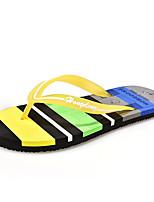 Синий / Коричневый / Желтый / Зеленый / Розовый / Тёмно-синий-Унисекс-На каждый день-Ткань-На плоской подошве-Сандалии-Сандалии