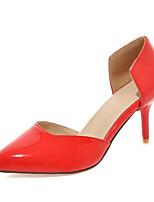 Da donna-Tacchi-Ufficio e lavoro / Formale / Casual-Tacchi / D'Orsay / A punta-A stiletto-Vernice-Nero / Rosso / Bianco / Argento