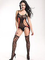 Women Sexy Fishnet Stockings Transparent Red Ribbon Crochet Cross Hollow Out Pajamas Lingerie