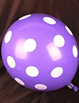 Gummi Hochzeits-Dekorationen-100Stück / Set Ballon Hochzeit Klassisches Thema Weiß / Rot / Rosa / Blau / LilaFrühling / Sommer / Herbst /