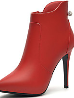 Women's Boots Spring/Fall/Winter Heels Synthetic Office & Career/Party & Evening Stiletto Heel Black/Red Snow Boots