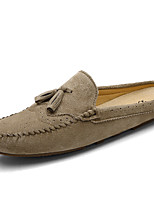 Unisex Loafers & Slip-Ons Comfort Summer Fall Nappa Leather Casual Dress Dark Blue Gray Khaki 1in-1 3/4in