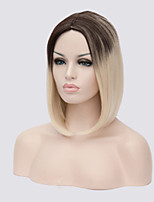 Middle Long Straight Synthetic Hair Wigs Ombre Black Blonde Color Synthetic Wigs For Black Women