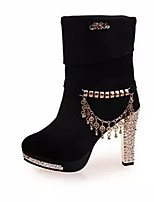 Women's Boots Summer Fashion Boots Fleece Casual Chunky Heel Others Black / Blue Others