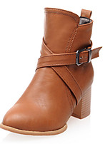 Women's Shoes Leatherette Spring / Fall / Winter Fashion Boots Boots Wedding / Party & Evening / Dress / Casual Chunky