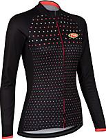 Deportes Bicicleta/Ciclismo Tops Mujer Mangas largasTranspirable / Cremallera delantera / Listo para vestir / Compresión / Almohadilla 3D