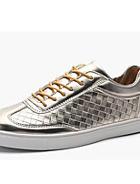 Men's Sneakers Spring / Summer/Fall/Winter Comfort Patent Leather Athletic / Casual Black / White / Gold Sneaker