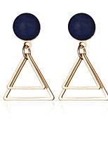 European Style Vintage Women Earrings Jewelry Gold/Silver Plated Hollow Geometric Triangle Dangle Earrings