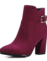 Women's Boots Spring / Fall / Winter Heels / Fashion Boots / Bootie / Pointed Toe  Dress / Casual Chunky Heel Buckle