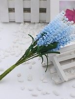 Hi-Q 1Pc Decorative Flower Hand Bouquet  Lavender Wedding Home Table Decoration Artificial Flowers
