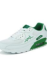 Masculino-Tênis-Conforto-Rasteiro-Preto / Verde / Vermelho / Branco-Couro / Tule-Ar-Livre / Casual / Para Esporte