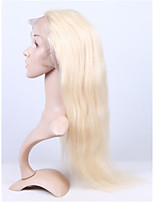 613# Color Silk Straight 100% Human Virgin Hair U Part Lace Front Wig