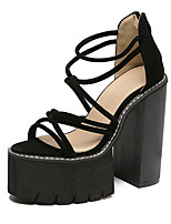 Women's Sandals Summer Sandals / Open Toe Suede Casual Chunky Heel Others Black / Gray Others