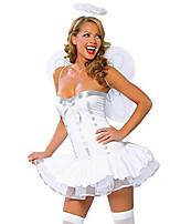 Costumes Déguisements d'animaux / Ange et Diable Halloween / Noël / Carnaval Blanc Vintage Térylène Robe / Ailes / Coiffure