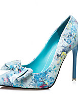 Women's Shoes Leatherette  Heels Sandals Casual Stiletto HeelRhinestone / Crystal / Feather / Bowknot /