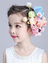 Jeune bouquetière Vannerie / Tissu Casque-Mariage / Occasion spéciale Fleurs 1 Pièce Blanc