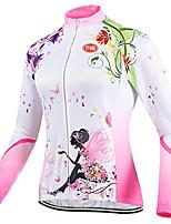 Deportes Maillot de Ciclismo Mujer Mangas largas Bicicleta Transpirable / Cremallera delantera / Listo para vestir / Tejido Ultra Ligero