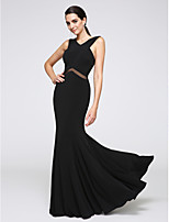 TS Couture® Formal Evening Dress Trumpet / Mermaid V-neck Floor-length Jersey with Lace