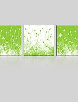 Canvas Set Maisema / Kukkakuvio/Kasvitiede Moderni,3 paneeli Kanvas Neliö Tulosta Art Wall Decor For Kodinsisustus