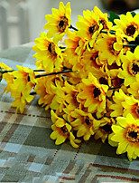 1PC  Household Artificial Flowers Sitting Room Adornment Flowers  Polyester Sunflowers Artificial   Flowers