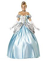 Costumes Déguisements de princesse / Déguisements d'animaux Halloween / Noël / Carnaval / Nouvel an Blanc / Bleu Vintage Térylène Robe