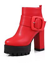 Damen-Stiefel-Büro / Kleid / Lässig-Lackleder / Kunstleder-Blockabsatz-Absätze / Plateau / Komfort / Armeestiefel / Stifelette /