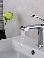 Contemporary Waterfall Single Handle Chrome Finish Bathroom Sink Faucet - Basin Mixer Tap