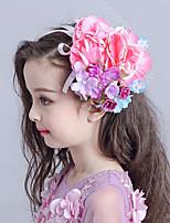 Blomsterpige Stoff / Nett Headpiece-Bryllup / Spesiell Leilighet Blomster / Fuglebur Slør 1 Deler Hvit Oval 19
