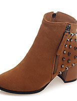 Women's Boots Fall / Winter Fashion Boots / Round Toe Fleece Party & Evening / Dress / Casual Platform Rivet / Zipper