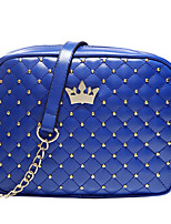 Women  Casual Shopping Coin Purse Cosmetic  Diamond Lattice Chain Wave Point Crown Icon Shoulder Bag