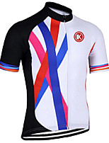 KEIYUEM® Велокофты унисекс Короткие рукава ВелоспортДышащий / Быстровысыхающий / Ультрафиолетовая устойчивость / Передняя молния /
