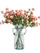 1 1 Ramo Poliéster / Plástico Lilás Flor de Mesa Flores artificiais 23.6inch/60cm