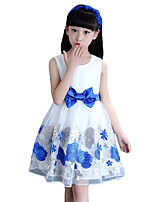 Girl's Casual/Daily PrintCotton / Polyester Summer Blue