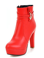 Women's Boots Spring / Fall / Winter Fashion Boots Leatherette Wedding / Party & Evening / Dress / Casual Chunky Heel