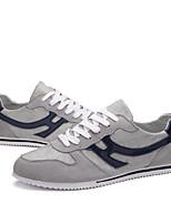 Herren-Sneaker-Outddor / Büro / Lässig-Leinwand-Flacher Absatz-Flache Schuhe / Rundeschuh-Blau / Weiß / Gold