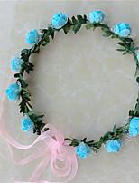 Dame Harpiks Headpiece-Bryllup Kranser 1 Deler Lilla / Blå / Rosa / Rød / Hvit Blomst 54CM