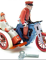 Novelty Toy  Pretend Play  Puzzle Toy Wind-up Toy Novelty Toy  Motorcycle Bicycle  Metal Red For Kids