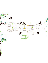 Botanical Wall Stickers Birds Wall Stickers Decorative Wall Stickers Photo Stickers,PVC Material Removable Wall Decals