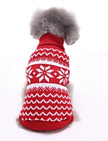 2016 New Autumn and Winter Christmas Sweety Christmas Snowflake Blue Red Dog Sweater Dog Clothes for Pet Dogs