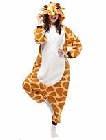 Kigurumi Pyjamas Collant/Combinaison Halloween Pyjamas animale Jaune Géométrique Polyester Kigurumi Unisexe Halloween / Noël / Carnaval