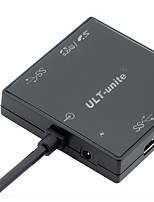 Ult-Unite Usb 3.0 Hub Hub 3 Usb3.0 Interface Combo Card Reader With Backlight 3 USB Ports